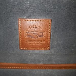 mission mercantile Bags - Mission Mercantile leather canvas laptop sleeve